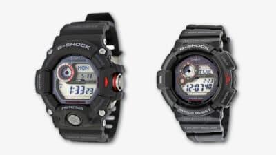 G Shock Rangeman vs Mudman Product Shots Side by Side