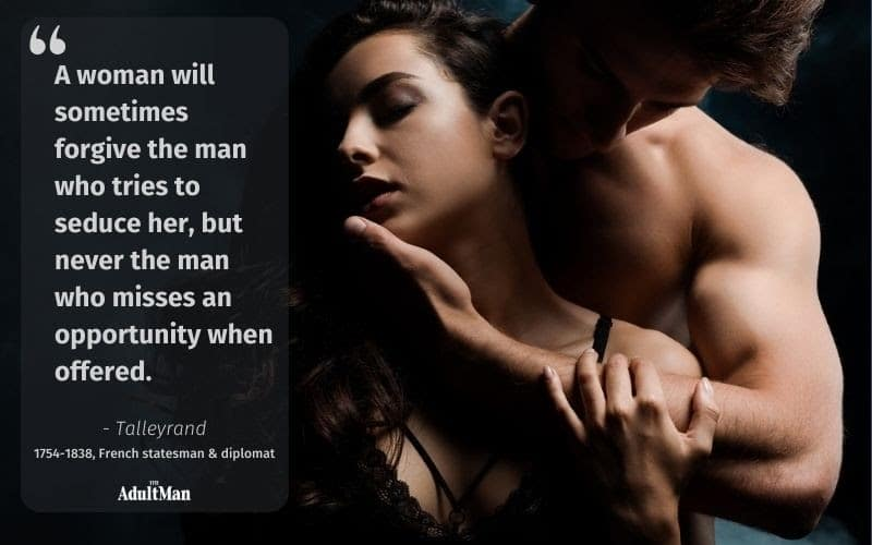 Quote by Tallyrand about seduction