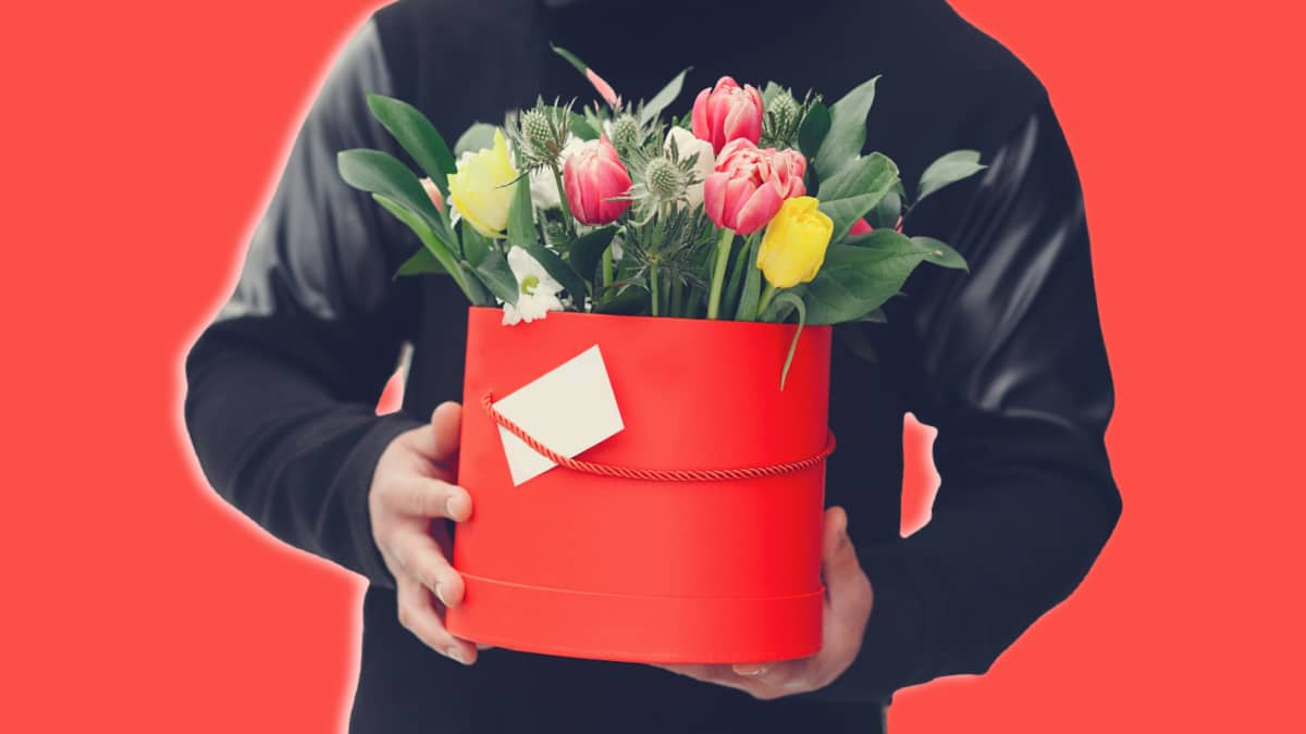 Best Mothers Day Gifts Man Holding Bouquet of Flowers