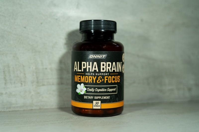 Onnit Alpha Brain bottle