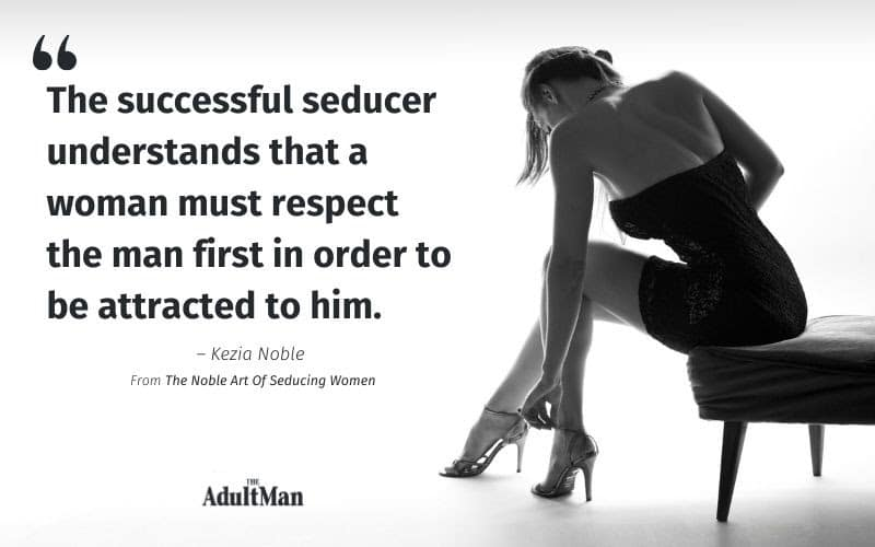 Quote from the noble art of seducing women