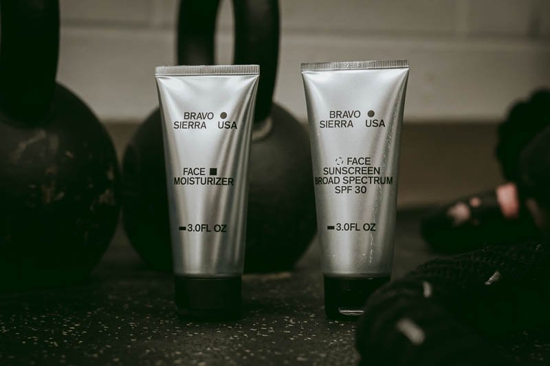 Bravo Sierra products next to kettlebell