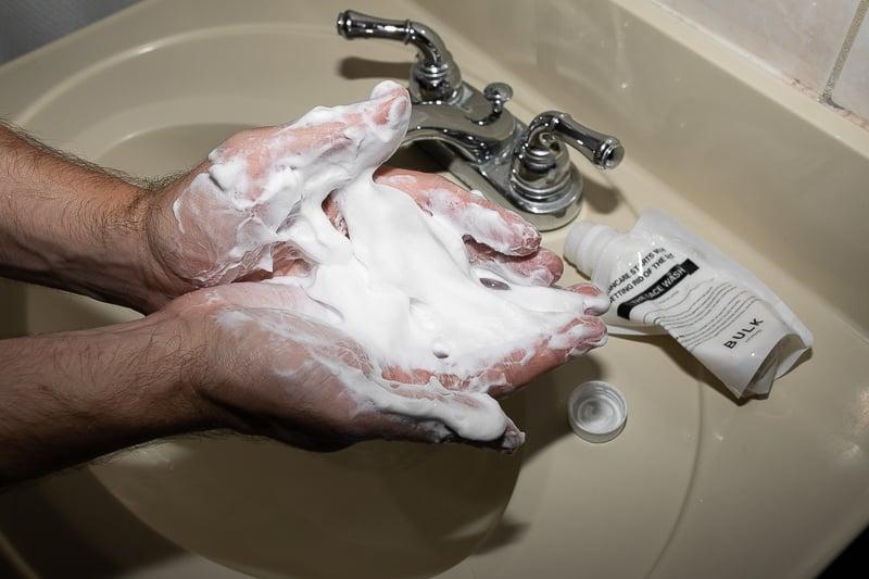 Bulk Homme face wash lather