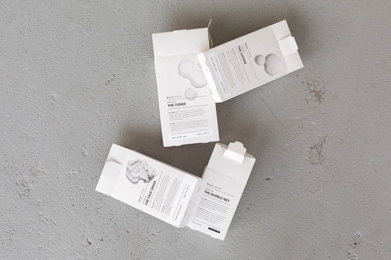 Bulk Homme product boxes from birds eye view