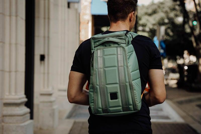 Db Bags 20L hugger backpack size on adult man