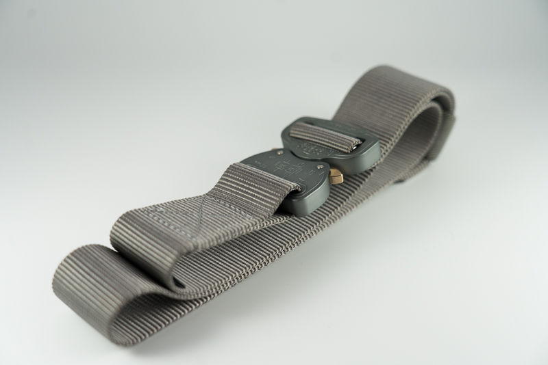Folded Gunmetal Klik Belt
