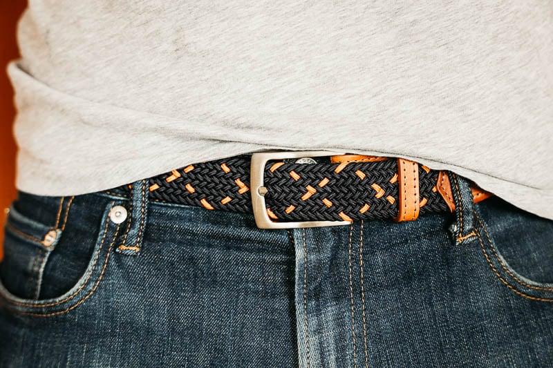 Hyde Belt Co braided belt wearing