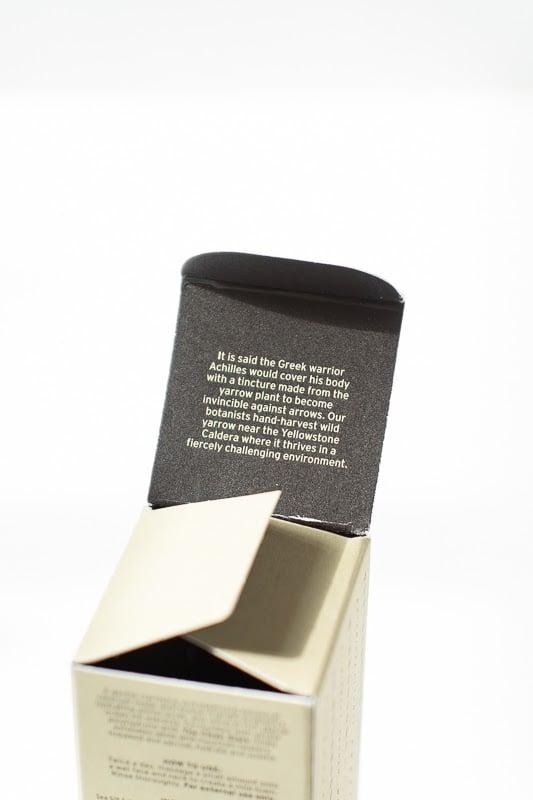 Caldera Lab the clean slate packaging details