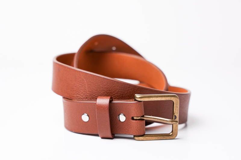 Hyde Belt Co brown casual belt