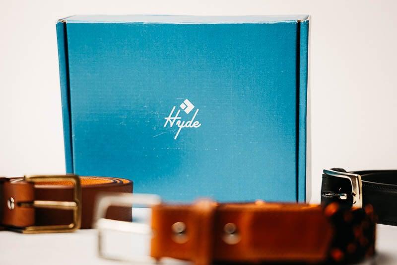 Hyde Belt Co packaging