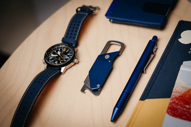 Kershaw Knives pub knife folded with watch