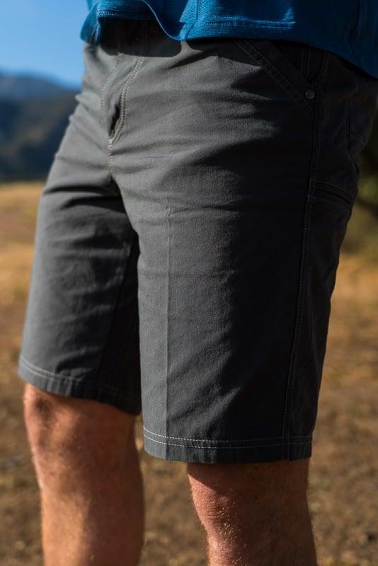 Kuhl shorts on trail