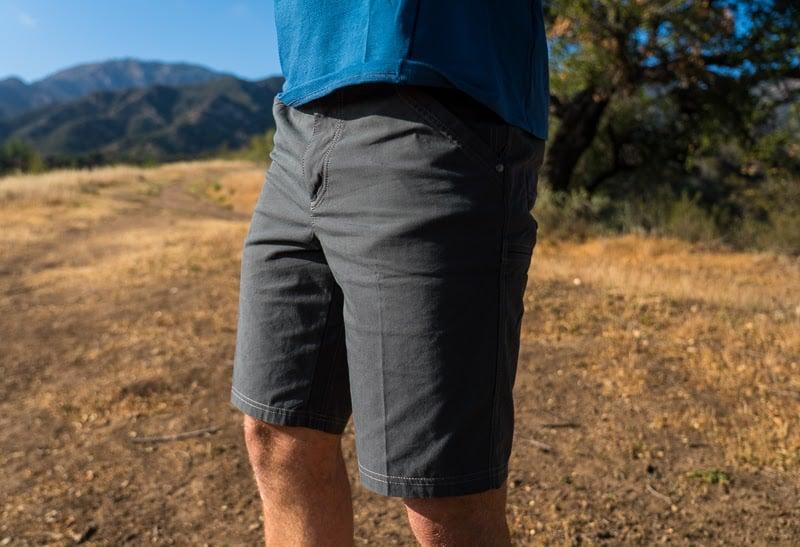 Man in Kuhl shorts
