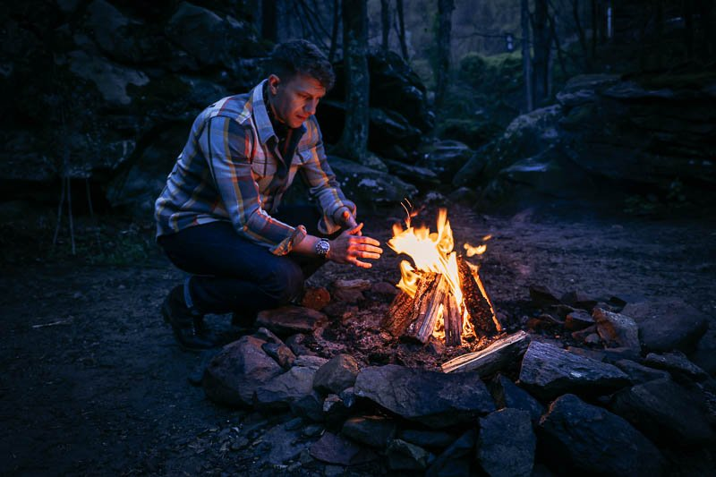 Outerknown clothing brand blanket shirt by fire