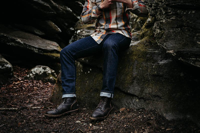 Outerknown sea jeans on model