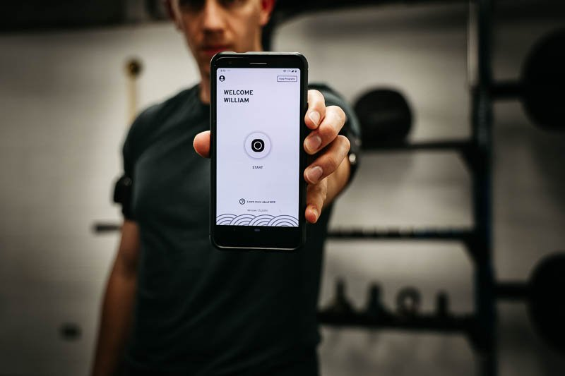 SAGA Fitness app on phone