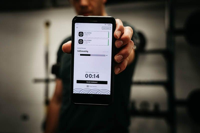 SAGA Fitness app pressure checking