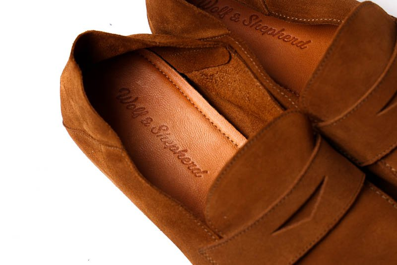 Wolf and Shepherd loafer footbed detail