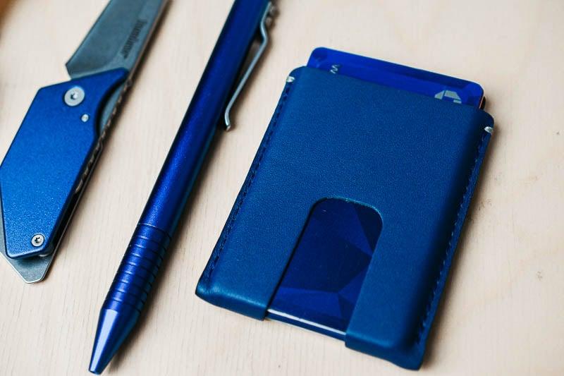 Anson Calder slim leather wallet