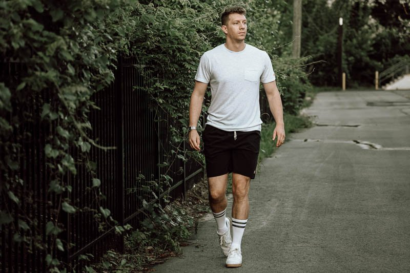 Homage go to collection with athletic shorts