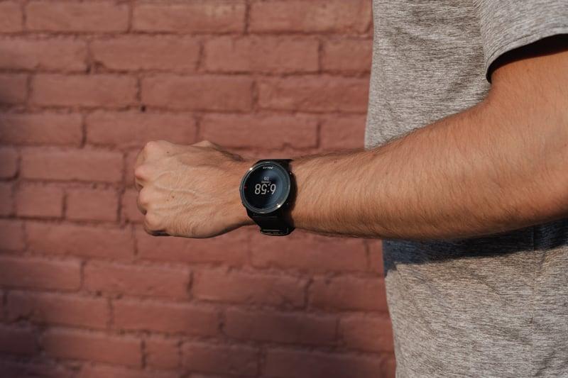 Polar Grit X detail on wrist
