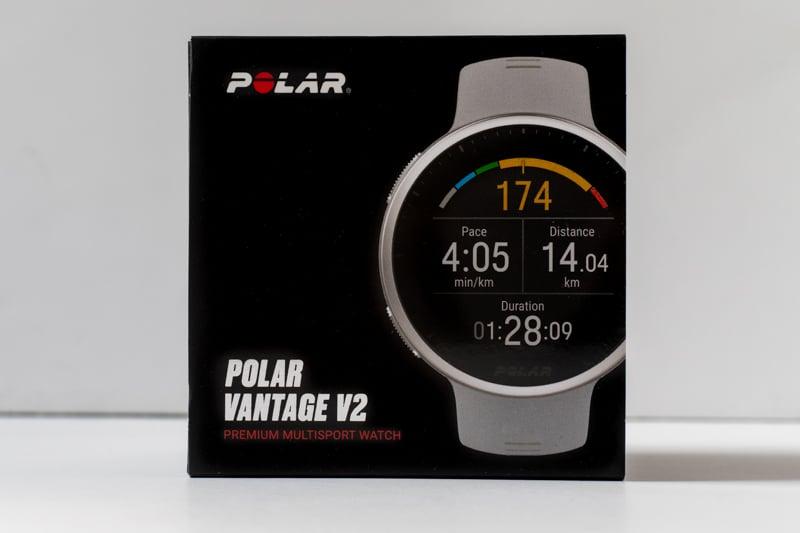 Polar Vantage V2 product box on white background