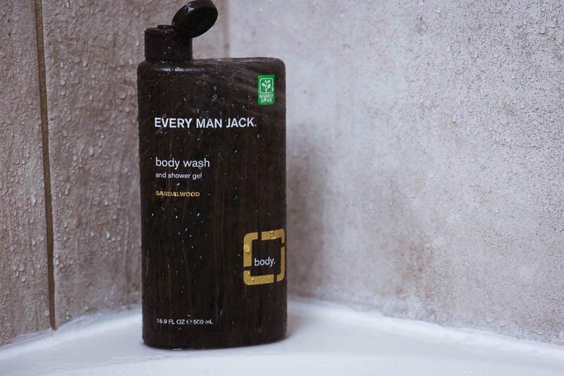 every man jack sandalwood body wash