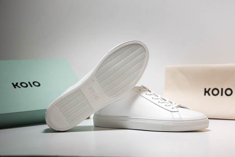 KOIO capri sneakers white background 1