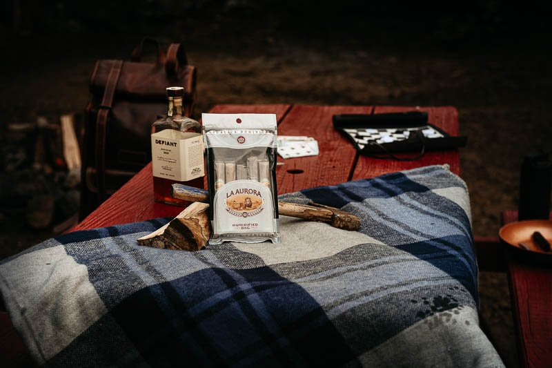 La Aurora cigars on table in sample five pack