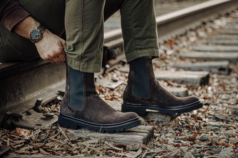 closeup KOIO chelsea boot