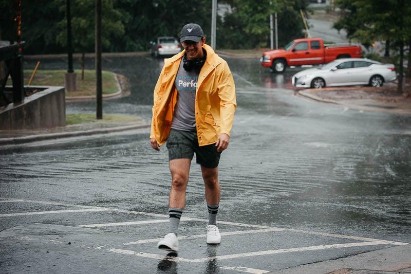 vessi waterproof sneakers with rain coat