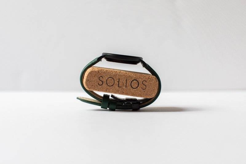Solios Solar on cork holder from profile