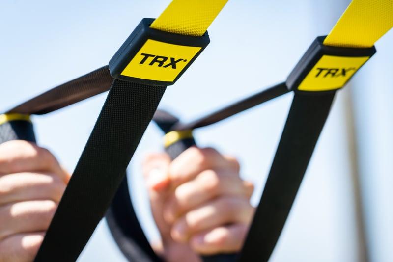 TRX straps up close