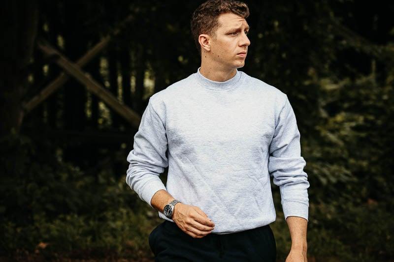 los angeles apparel grey sweatshirt crew neck