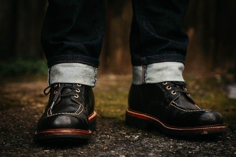 moc toe Grant Stone Brass boot black