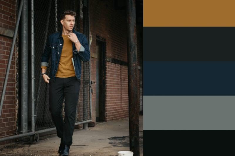 denim jacket fall colors
