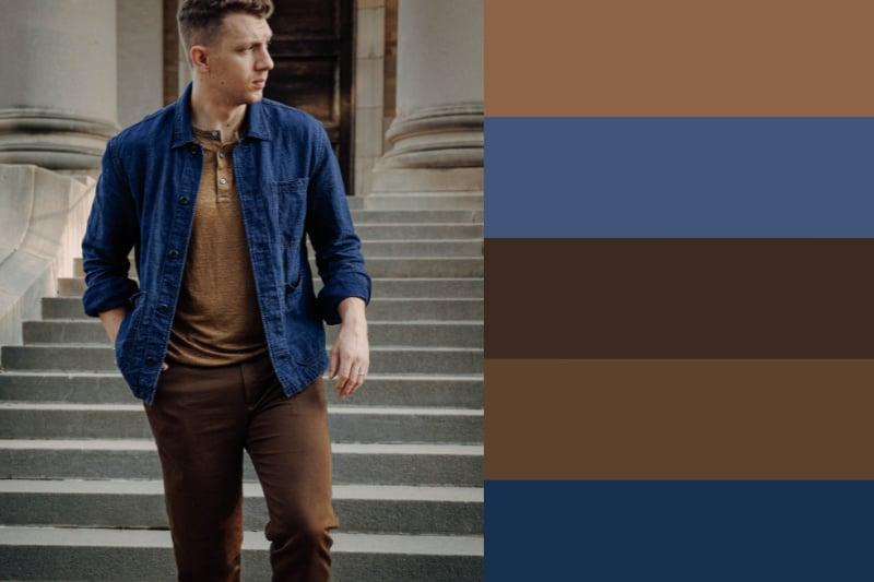 linen chore coat fall colors
