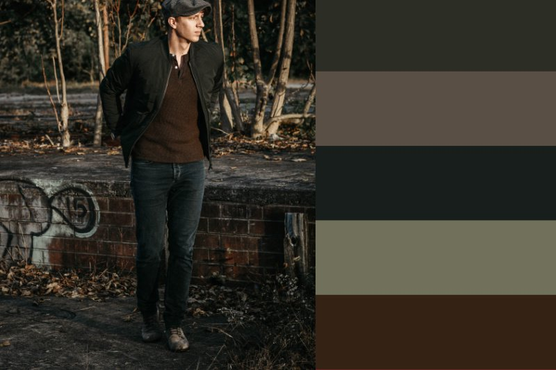 quilted jacket fall colors